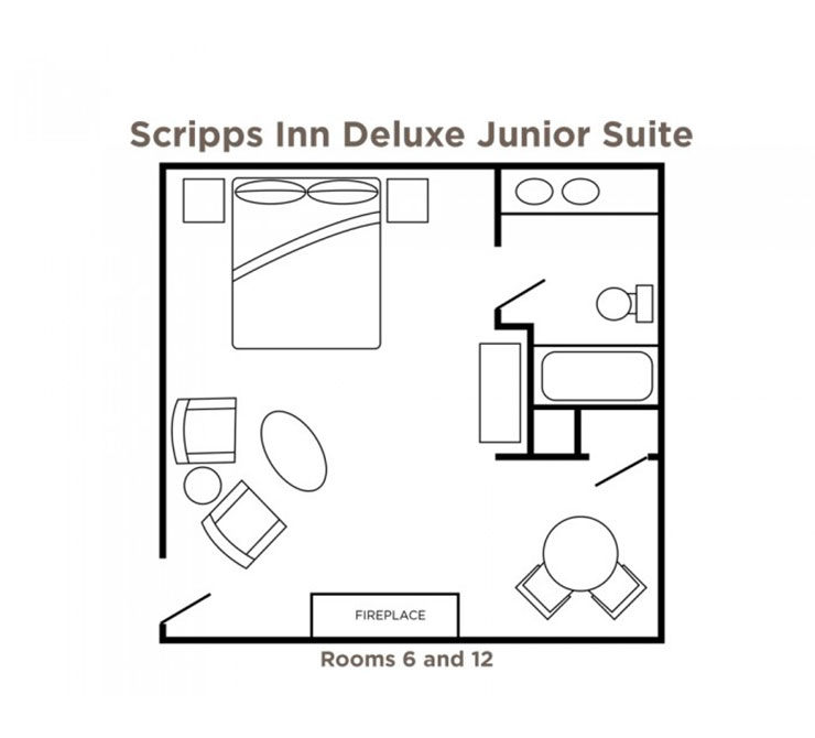 Scripps Inn Deluxe Junior Suites floor plan
